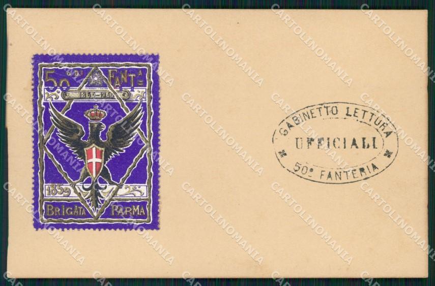 Militari Fanteria 50 Reggimento Brigata Parma cartolina MT8478