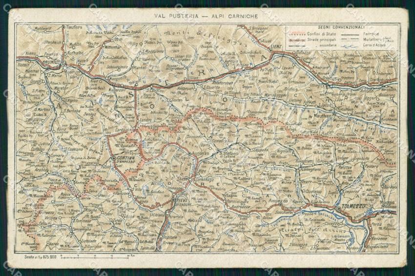 Udine Cartina.Udine Citta Val Pusteria Alpi Carniche Cartina Geografica Mappa Cartolina Mx2904 Ebay