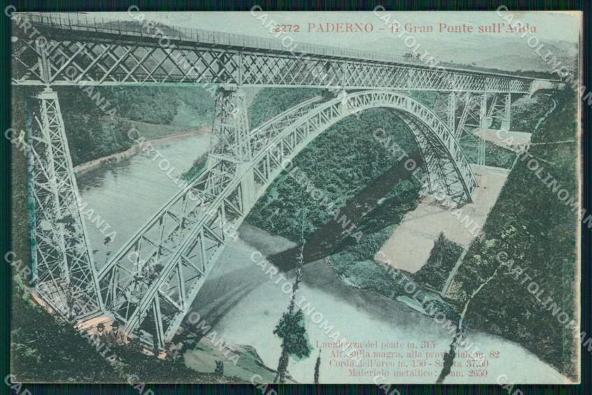 Cameretta A Ponte A Lecco.Lecco Paderno D Adda Gran Ponte Sul Fiume Adda Cartolina Rt0063 Ebay