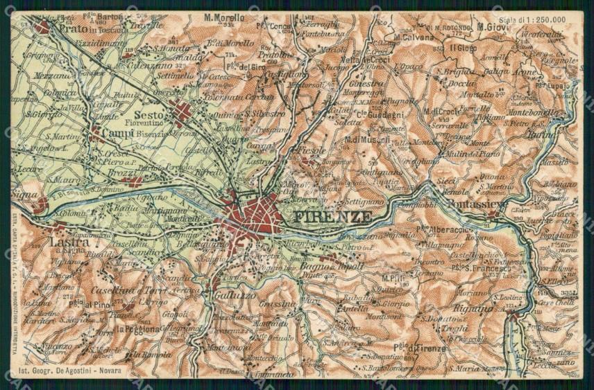 Firenze Cartina Geografica.Firenze Bagno A Ripoli Cartina Geografica Mappa 39 Cartolina Rt2485 Ebay