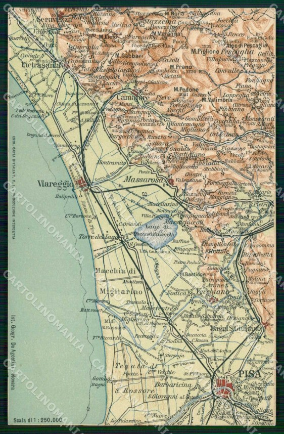 Cartina Italia Lucca.Lucca Pisa Viareggio Cartina Geografica Mappa 36 Cartolina Rt2488 Ebay